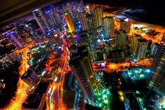 Neon City Lights by dazstudios, via Flickr