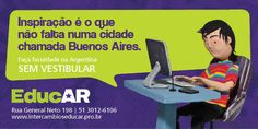 EducAR - agência de intercâmbios Brasil - Argentina - busdoor