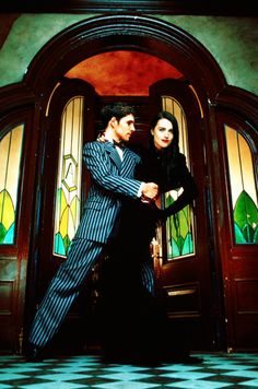 Colin Morgan and Katie McGrath as Gomez and Morticia....there are no words to adequately express how much I adore this picture