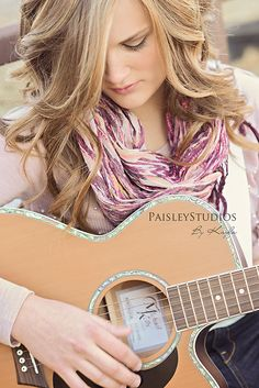Senior girl + guitar