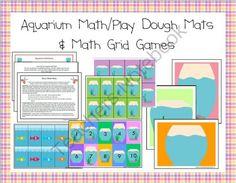 Aquarium Math/Playdough Mats and Grid Games for Preschool and ...