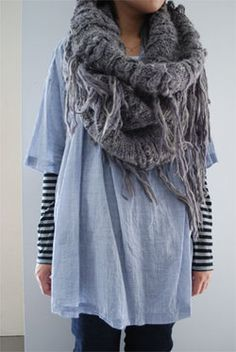 winter hide away - I like the long sleeve tee under the tunic