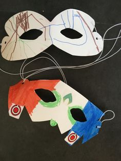 Super hero masks Superhero Party, Masks, Snoopy, Fictional Characters, Face Masks