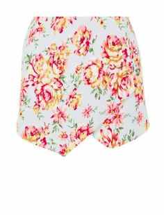 Update your style with New Look's trousers for women. From printed ladies' trousers to wide-leg trousers, stock up now with next day delivery options. Wrap Skort, Print Wrap, Spring Summer Trends, Summer 2014, Green Pattern, High Waisted Shorts, Teen Fashion, Floral Tie, Mint Green