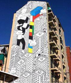 Street art | Mural (B.Art, Torino, Italy, Oct14) by Millo