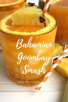 The Bahamas most famous drink is the Bahamian Goombay Smash filled with the tastes and colors of the islands. Famous Cocktails, Fruity Cocktails, Goombay Smash, Smash Recipe, Cocktail Recipes, Drink Recipes, Punch Recipes, Shake Recipes, Gourmet Recipes