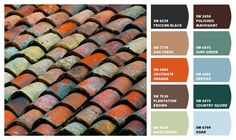Color palette inspired by a tile roof
