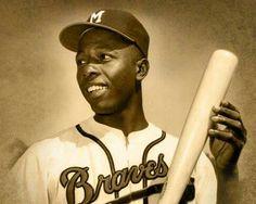 Hank Aaron, Braves Baseball, Baseball Players, Baseball Today, Mlb Players, Sports Baseball, Baseball Photos, Baseball Cards, Thing 1