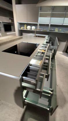 Kitchen Pantry Design, Diy Kitchen Storage, Modern Kitchen Cabinets, Modern Kitchen Design, Home Decor Kitchen, Interior Design Kitchen, Kitchen Sink, Kitchen Island, Cuisines Design