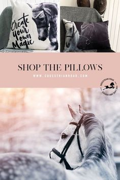 You will find here beautiful and soft horse pillows and many gift ideas for the equestrian in your life. Equestrian Gifts, Equestrian Outfits, Equestrian Style, Horse Meme, Horse Quotes, Horse Gifts, Gifts For Horse Lovers, Pretty Horses, Beautiful Horses