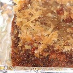 German Chocolate | Upside Down Cake