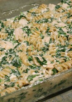 This was ok.  Not sure if i'd try it again: Skinny Mom's original Skinny Chicken Florentine
