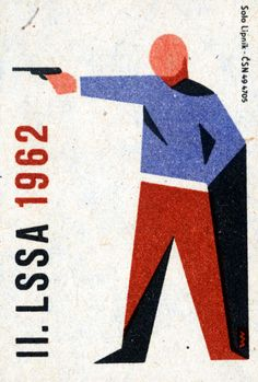 II. LSSA 1962. 3/15. Czechoslovak matchbox label.