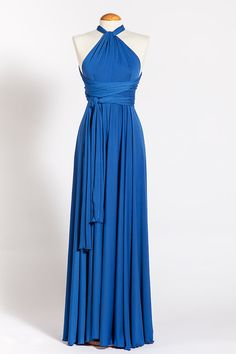 Hey, I found this really awesome Etsy listing at https://www.etsy.com/listing/179817281/blue-maxi-dress-royal-blue-infinity