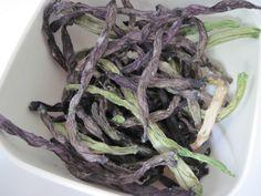 Dehydrated Green Bean Garlic Crisps