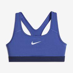 ab0c0a3a10b28 Nike Pro Big Kids  (Girls ) Medium Support Sports Bra Size M (Blue) -  Clearance Sale
