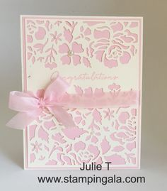Stampin Gala: FLORAL PHRASES AND DETAILED FLORAL THINLITS DIES