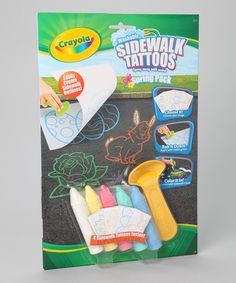 Take a look at the Giant Sidewalk Tattoo Spring Pack Art Set on #zulily today!