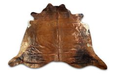 Gorgeous brown with copper metallic cowhide. Gorgeous shiny Rug! Please see pictures for details.  Please understand that due to the fact that these are natural animal skins they will sometimes have occasional marks, fire brands, and scrapes. These blemishes are not defects but simple scars that add to the natural characteristic of these rugs.  Our cowhides are chrome tanned using methods improved by the Brazilian tanneries over time which yield the best quality in the industry. Our cowhide…