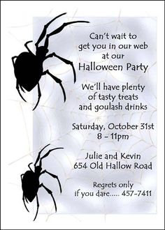 Stew up party invites for scary halloween soiree find your award find spooky halloween invitation wording ideas and samples stopboris