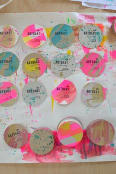 DIY painty business cards | Art Bar