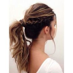 .Modern Pony with side braid ~ Texture and volume galore! Super Cute!