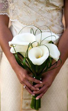 16 Stunning Summer Wedding Flowers---calla lilies bridal bouquets for organic garden weddings Calla Lillies Wedding, Lily Bouquet Wedding, Calla Lily Bouquet, Calla Lilies, Calla Lily Boutonniere, Lilies Flowers, Beach Wedding Bouquets, Bridal Bouquets, Wedding Flower Arrangements