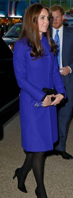 Kate Middleton: Coat – Reiss  shoes – Stuart Weitzman  Earrings – Mappin & Webb  Scarf – Beulah London