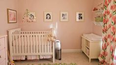 Take a video tour of this classic pink and green nursery - #video #nursery