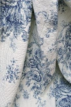 Blue and white toile ✿⊱╮ by VoyageVisuel