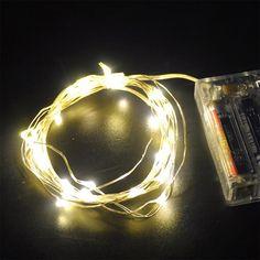 20-30-50-Led-2-5m-Fio-De-Prata-4-5V-cordao-de-luzes-Splendid-Para-Festa-Casamento-7643