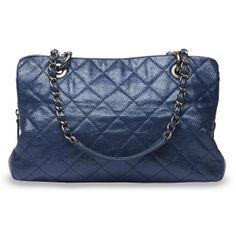 Chanel Glazed Blue Caviar Leather Shopping Bag   Blue Spinach