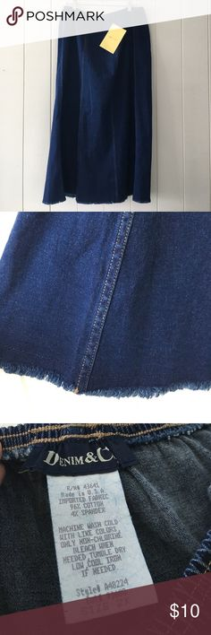 NWT Denim & Co Stretch Denim Skirt NWT Denim and Co stretch Denim long skirt.  Size 2x Skirts