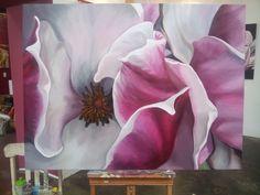 Magnolia acrylic on canvas, 120cm x 90cm $980