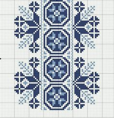 Beading _ Pattern - Motif / Earrings / Band ___ Square Sttich or Bead Loomwork ___ Cross Stitch For Kids, Cross Stitch Borders, Cross Stitch Flowers, Cross Stitch Designs, Cross Stitching, Cross Stitch Embroidery, Hand Embroidery, Cross Stitch Patterns, Beading Patterns