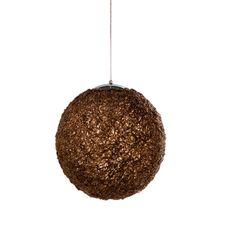 dwell - Glitter ball pendant light bronze - £149