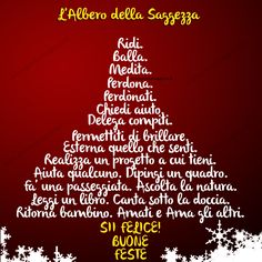 Buon Natale albero di saggezza Christmas Time, Christmas Crafts, Merry Christmas, Free Cross Stitch Charts, Positive Art, New Years Eve Party, Xmas Tree, Beaded Flowers, Holidays And Events