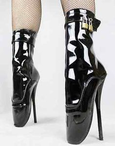 Womens Patent Leather Midcalf Boots Stilettos High heel Platform Dance shoes New Black High Heels, High Heels Stilettos, Stiletto Heels, Hot Heels, Ballet Heels, Ballet Boots, Leather High Heel Boots, Heeled Boots, Pu Leather