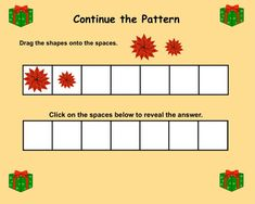 Interactive Smartboard Patterning/Graphing Activities for Christmas Theme 1st Christmas, Christmas Themes, Graphing Activities, K 1, Creative Teaching, Educational Games, Elementary Teacher, Shapes, Amazing