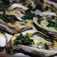 Rockin' Oysters Rockefeller Allrecipes.com We paired with with the white selection, Stolpman Vineyards Sauvignon Blanc 2014