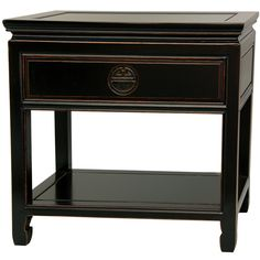 Rosewood Antique Black Bedside Table (China) - Overstock™ Shopping - Top Rated Nightstands