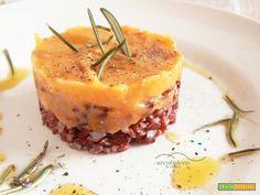 Primo piatto GLUTEN FREE, Riso Rosso con Crema di Zucca Gialla speziata al Rosmarino - Ricetta