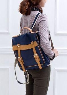 Hi Korean Fashion Ladies Synthetic Leather Satchel Backpacks Casual School Bags | eBay