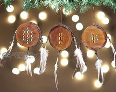 american indian christmas ornaments | ... American Drum Ornament Set (o21) - Rustic Southwest Christmas