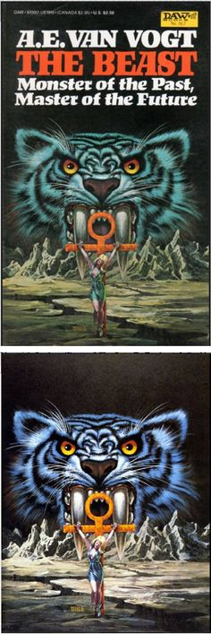 FRANK KELLY FREAS - The Beast - A.E. VAN VOGT - 1984 DAW Books - cover by isfdb - print by flickr.com