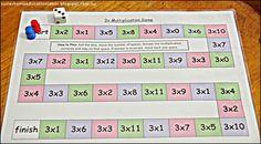 FREE Multiplication Board Games
