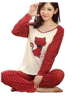 201892d797 Romastory Women s Cute Cat Print Pajama Sets Long Sleeve Sleepwear Sleep  Lounge – Women s Stylish Lingerie and Accessories