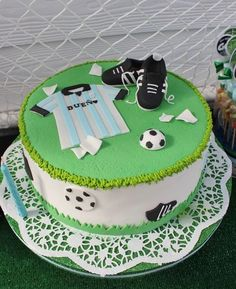 Football Birthday Party cake! See more party ideas at CatchMyParty.com!