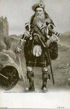 Highland Chief  Costume of the XVII Century