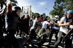 Brazilian Protesters And Riot Police Clash In São Paulo Just Hours Before World Cup Kickoff.